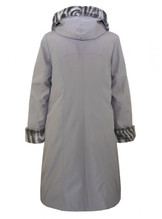 Г-006 Зимний женский плащ-пальто с капюшоном