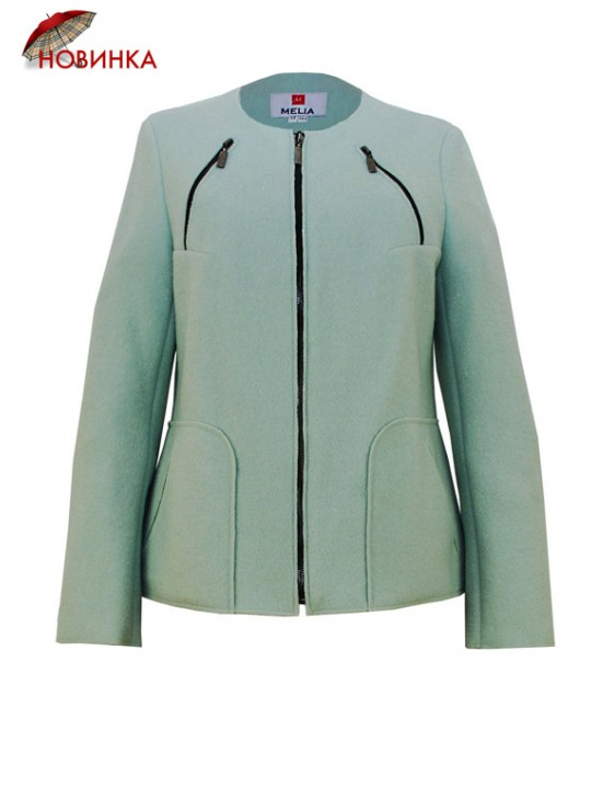 Т-955/Ф Летнее куртка-пальто на молнии без подклада