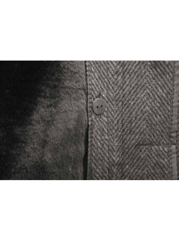 М-201А/СРЗ Зимнее мужское пальто с искусственным мехом