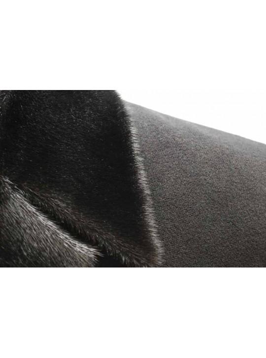 М-217/ЧЗ Черное зимнее мужское пальто с мехом нерпы