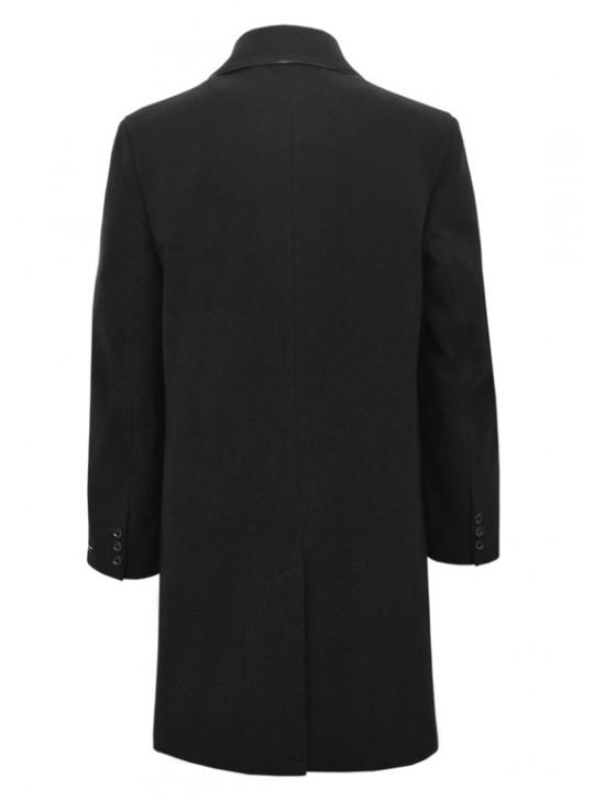 М-203/Ч Черное длинное мужское пальто
