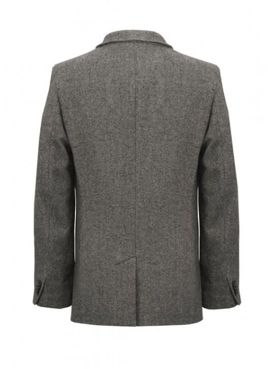 М-205/СТ Укороченное мужское пальто из твида