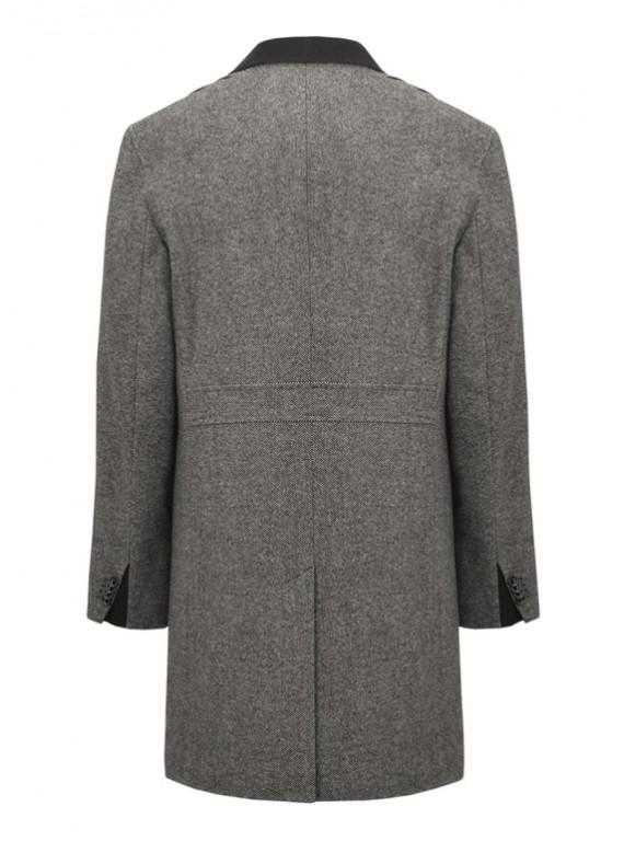 М-221 Длинное мужское пальто из твида