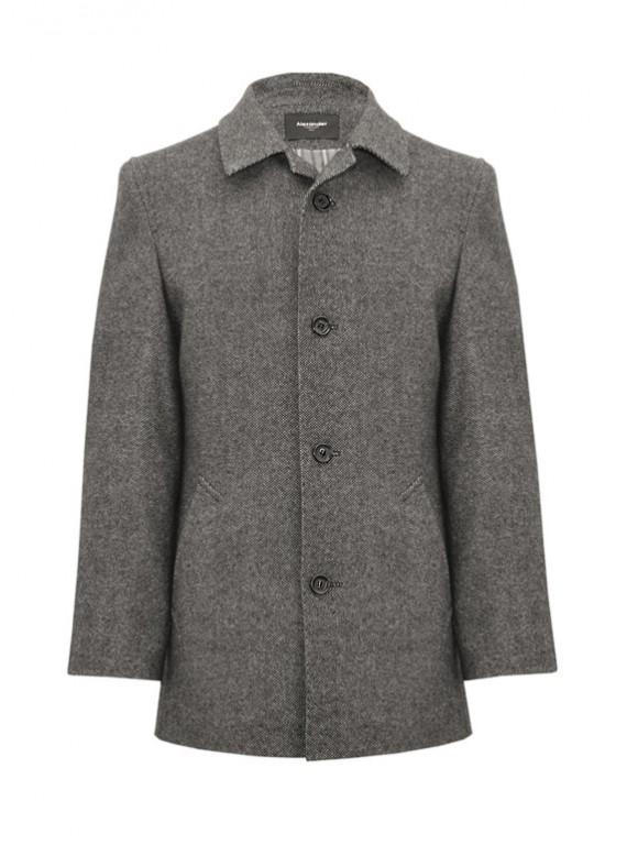 М-225/СТ Мужское приталенное пальто из твида