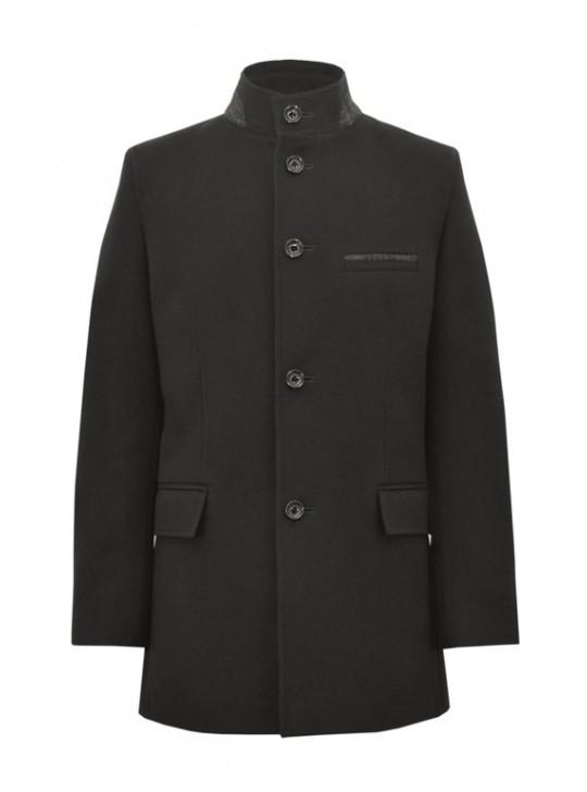 М-226 Кашемировое мужское пальто с воротником-стойкой