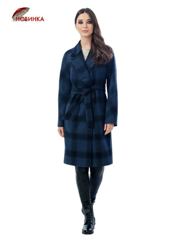 А-2491-1 Молодежное пальто в клетку