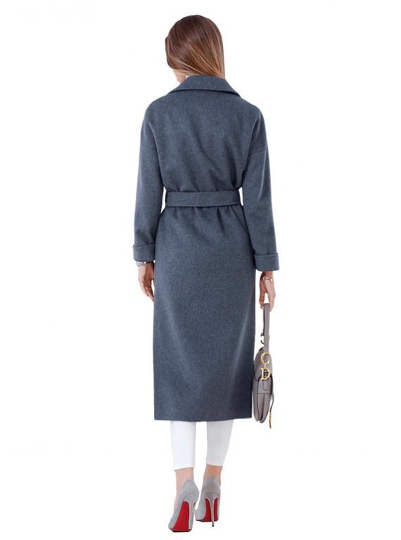 А-2665/ДЖ Модное длинное пальто-халат