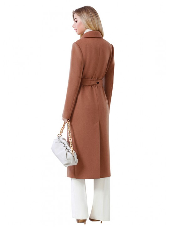 А-2731 Классическое строгое двубортное пальто