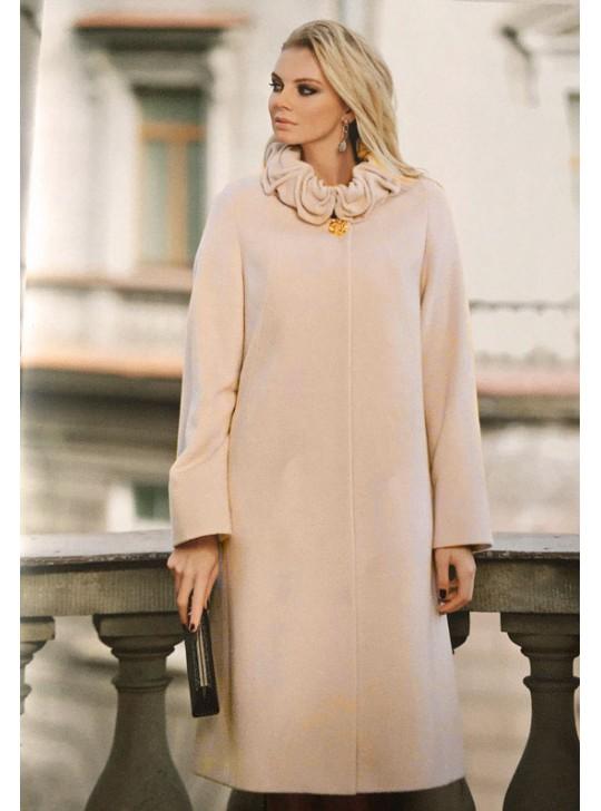 7332 Стильное удлиненное женское пальто