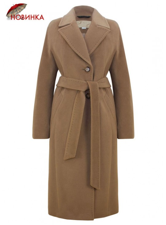 7421 Классическое женское пальто с английским воротником