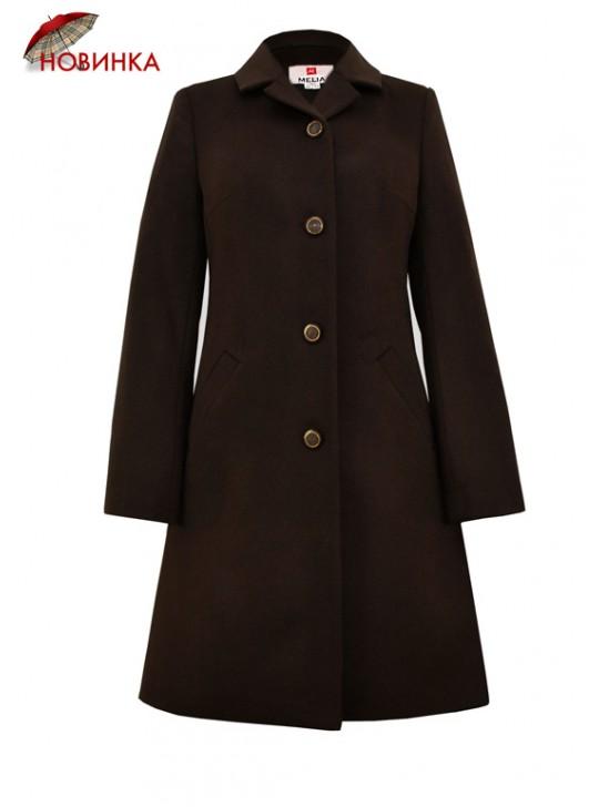 Т-1083 Коричневое женское молодежное пальто