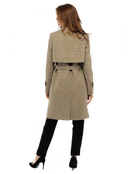 Т-1082/БС Молодежное пальто тренчкот с поясом
