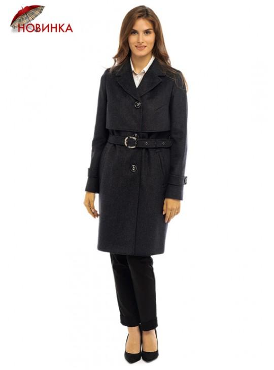 Т-1082/ТС Строгое женское пальто тренчкот на поясе