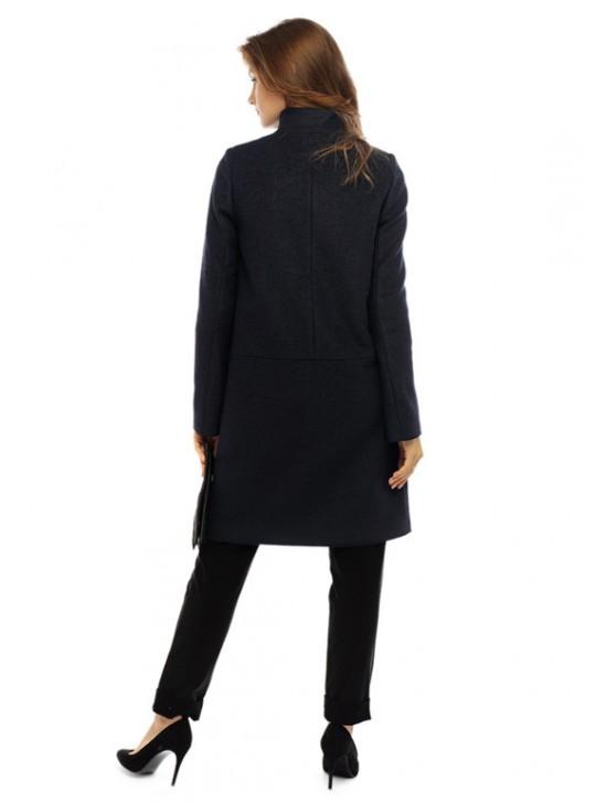 Т-1129/ТС Женское пальто с воротником-шалка