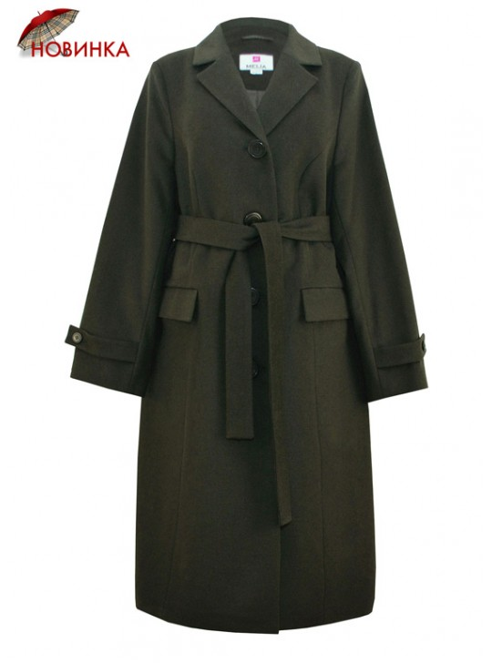 Т-1005/Х Женское стильное пальто цвета хаки
