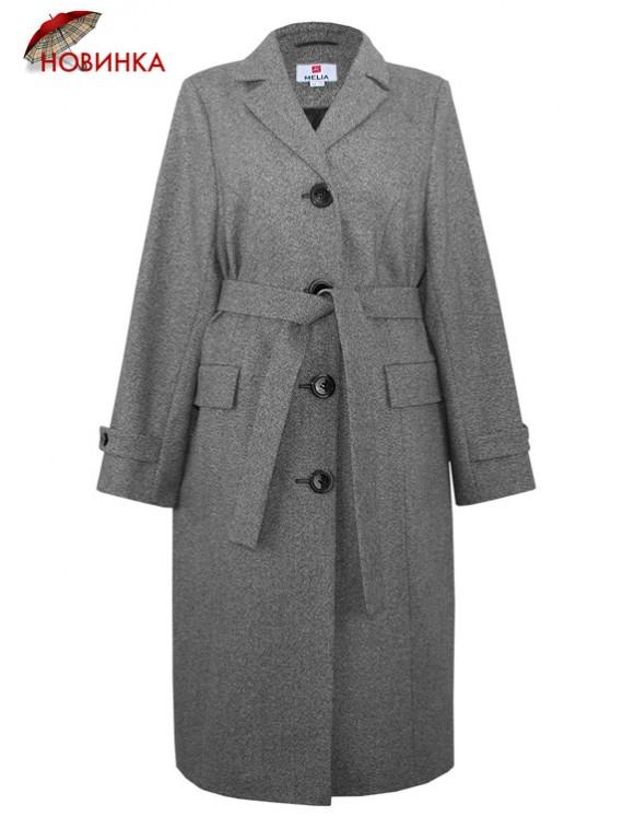 Т-1005/Т Классическое женское пальто из твида