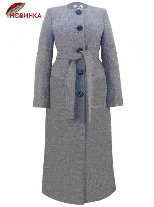 Т-1080/СвС Женское пальто в пол из твида