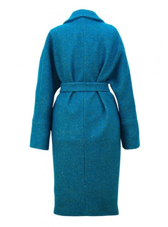 И-112/Б Пальто из мягкой твидовой ткани меланж
