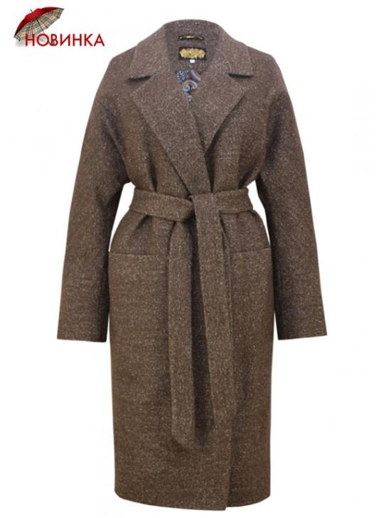 И-112/К Классическое женское пальто из твида