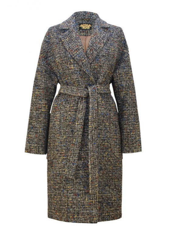 Э-2/Т Женское пальто-халат из твида