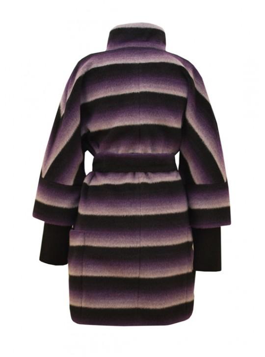 Т-857/Ф Демисезонное пальто из ворсовой ткани