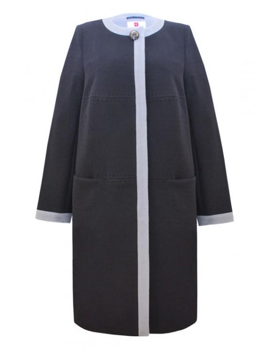 Т-1017/ТС Женское пальто без воротника