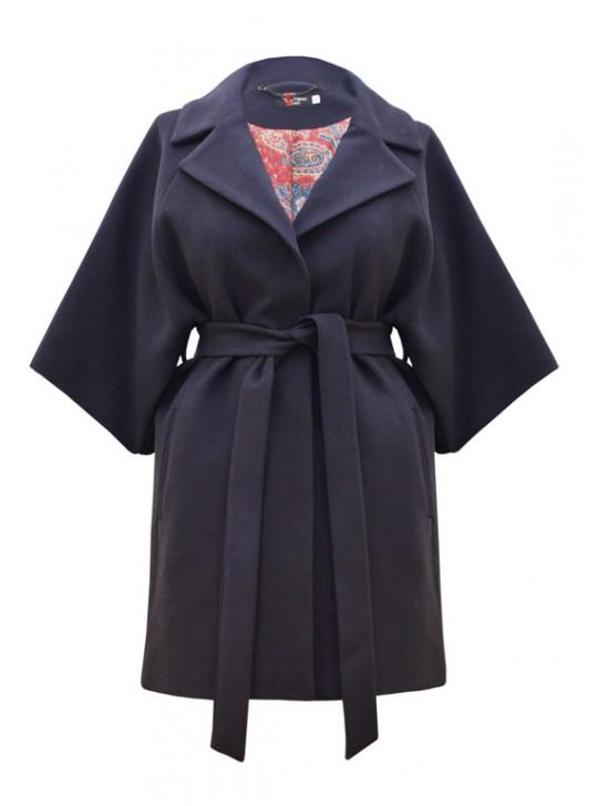 М-123/С Молодежное пальто с поясом