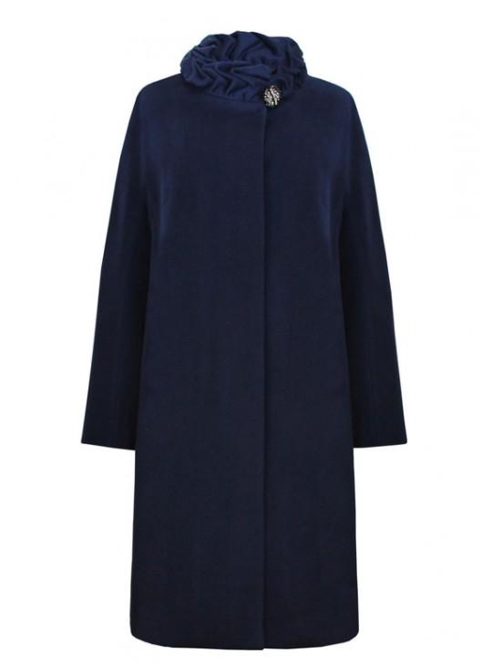 61631/ТС Длинное женское пальто с поясом