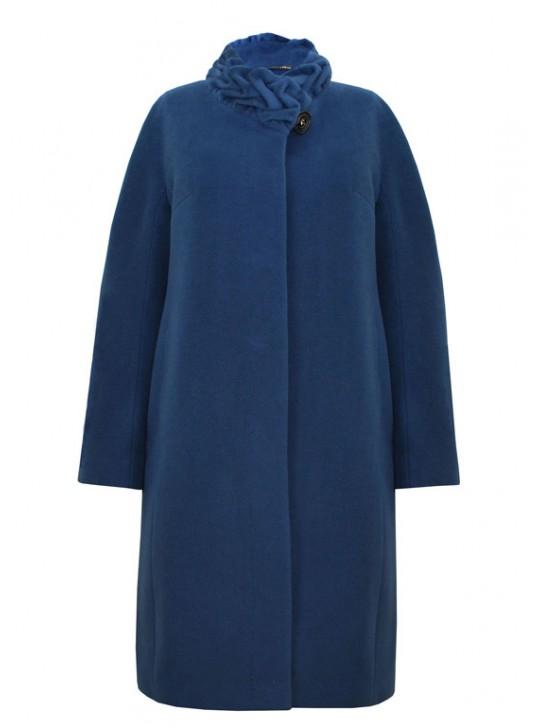 61658/МВ Удлиненное женское пальто из кашемира