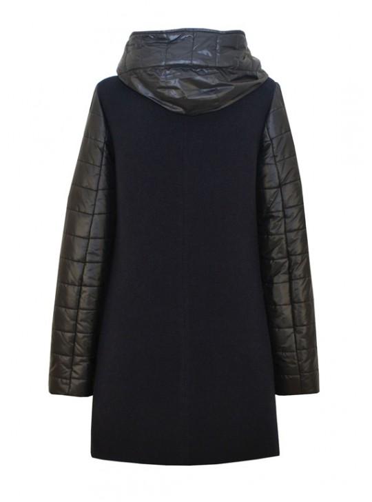 61678/ТС Молодежный женский комбинированный плащ-пальто