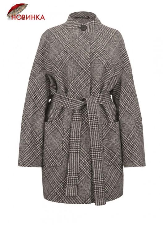 61741/К Стильное женское укороченное пальто