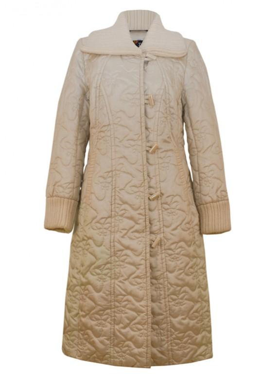 8065/Б Демисезонный плащ-пальто молочного цвета