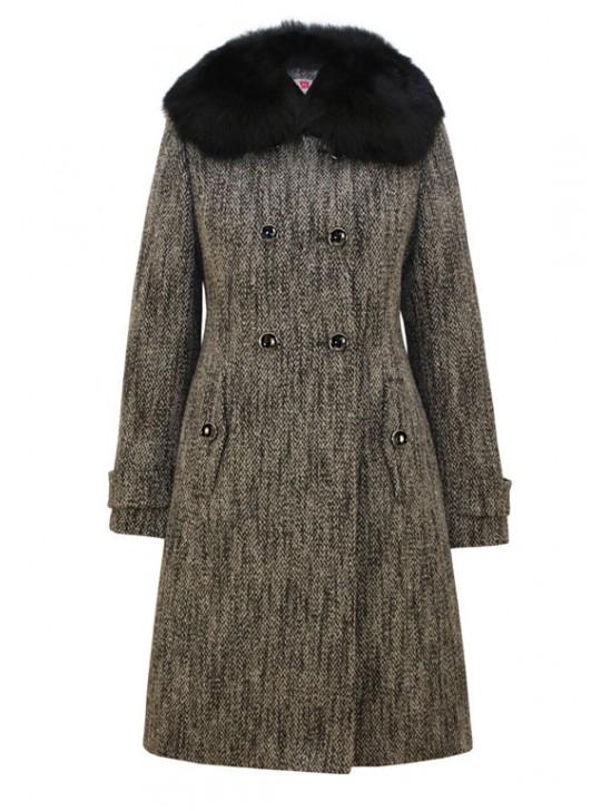 Т-812/Т Зимнее женское пальто приталенного силуэта