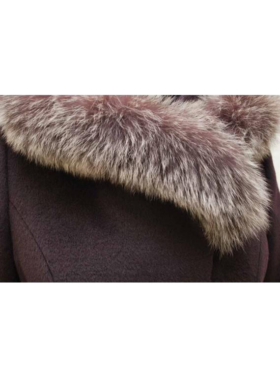 Т-866-61/Б Зимнее пальто с капюшоном