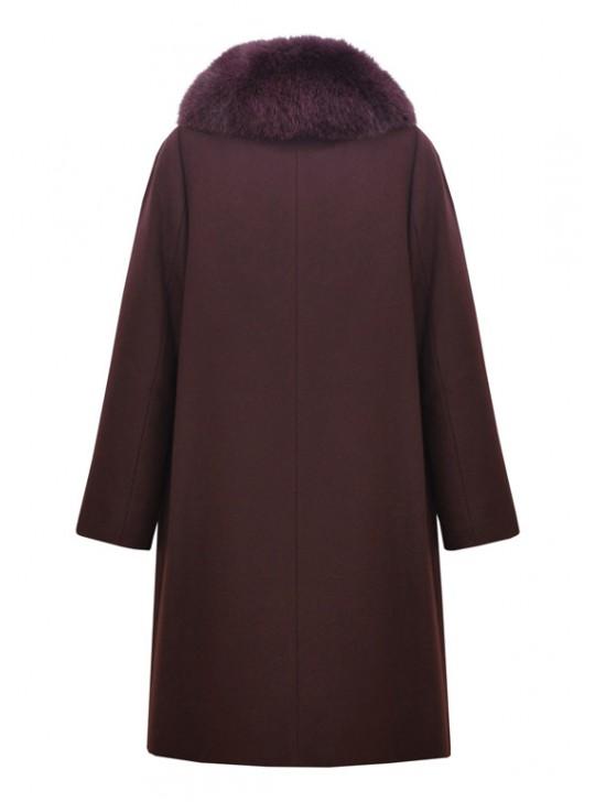 Т-950-60 Зимнее женское пальто с меховым воротником