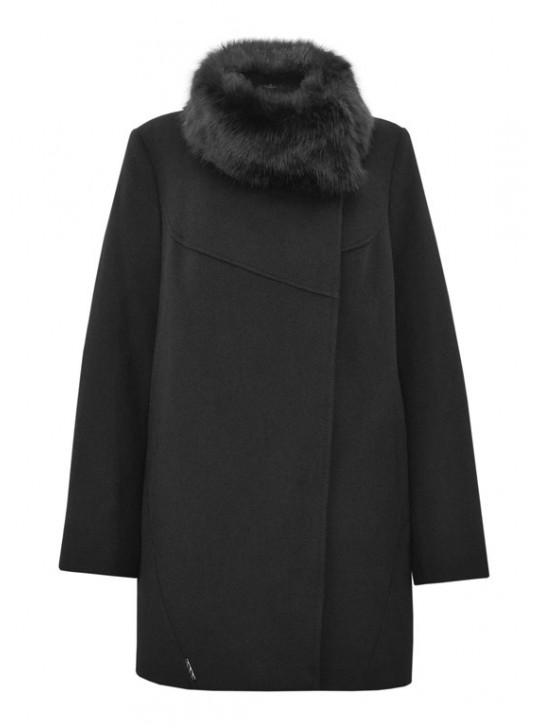 Т-951/Ч Пальто зимнее молодежное черное