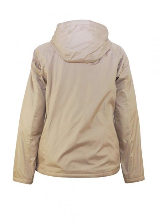 Б-174/Б Бежевая женская куртка с капюшоном