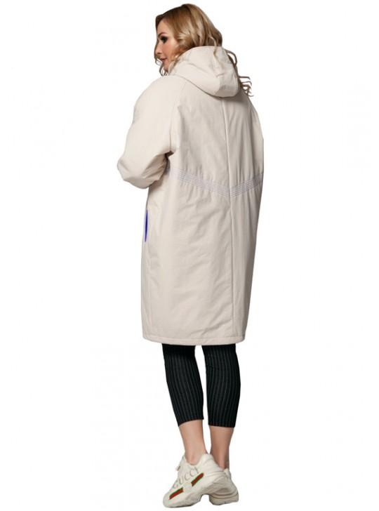 Б-412/С Женский утепленный плащ-пальто с капюшоном