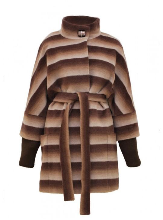 Т-857/СВК Эффектное пальто средней длины