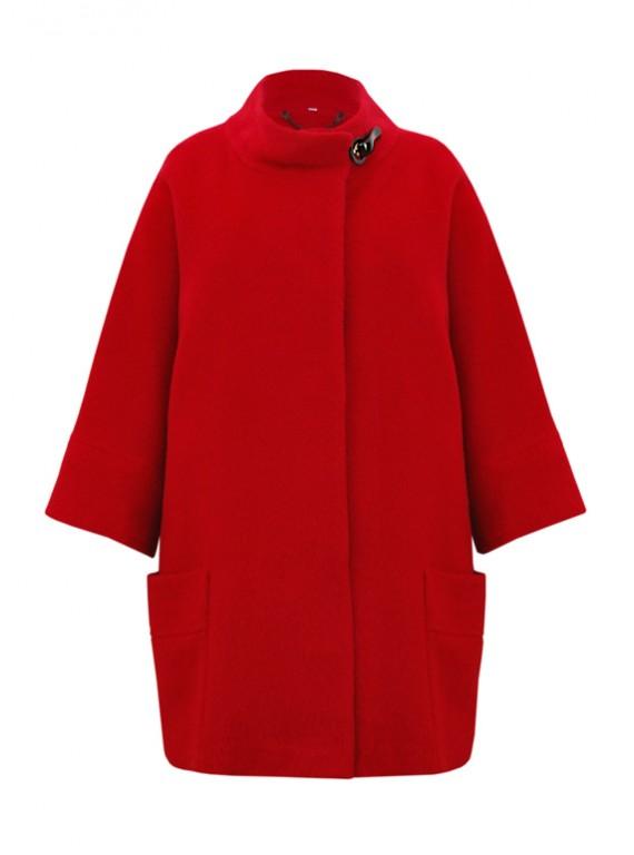 М-183/К Красное пальто прямого покроя