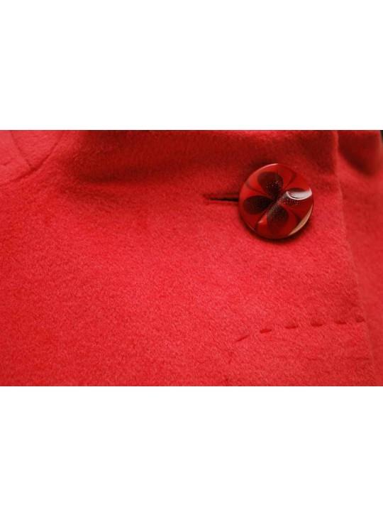 Т-841/К Коралловое женское пальто