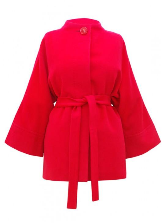 Т-841/КР Красное укороченное пальто