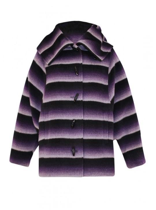 М-162  Укороченное пальто с воротником-капюшоном
