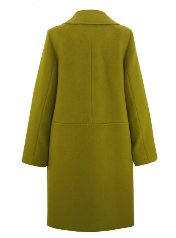 С-1070 Женское пальто силуэта оверсайз