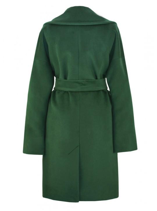 С-1135 Женское пальто с запахом на поясе