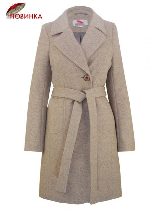 C-1151 Молодежное приталенное женское пальто