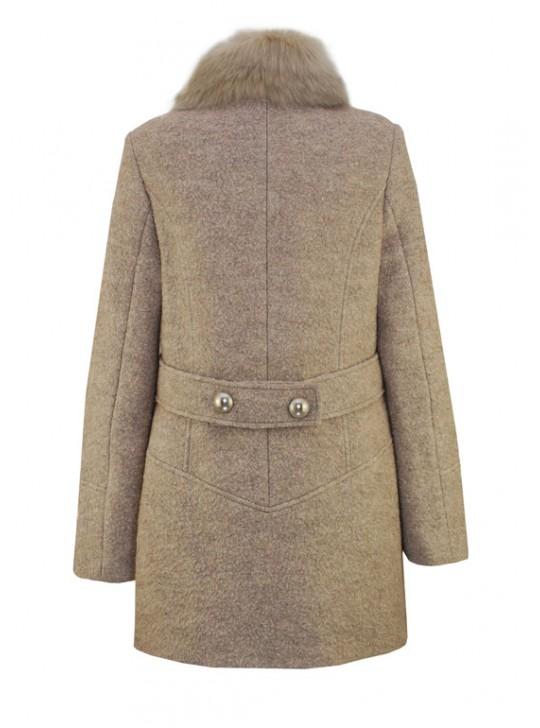 К-1055/Б Молодежное женское зимнее пальто с мехом