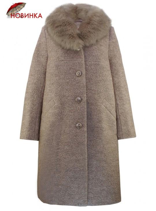 К-1088/Б Женское зимнее пальто расклешенного силуэта