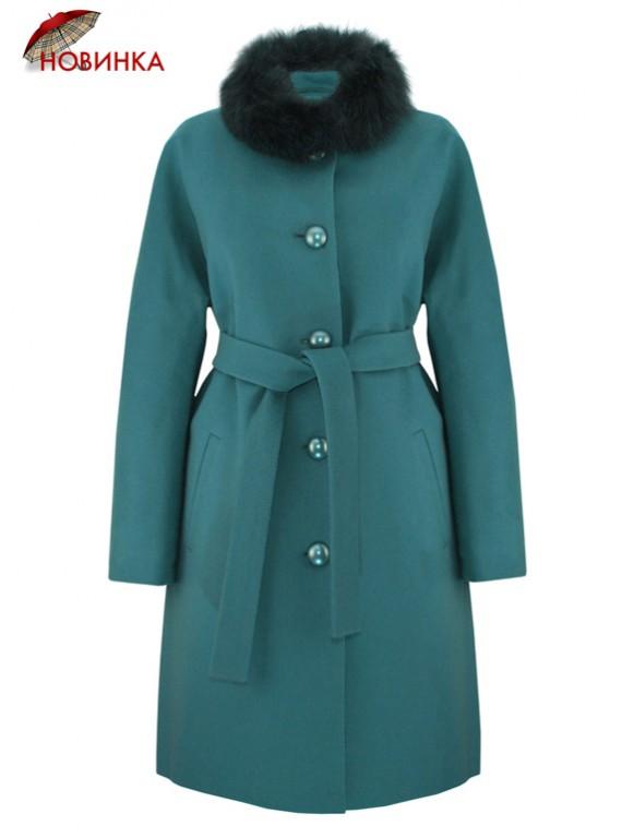 К-1099/И Женское зимнее пальто из кашемира