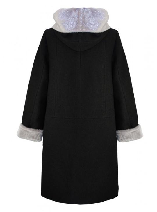 К-974-60 Зимнее женское пальто с капюшоном